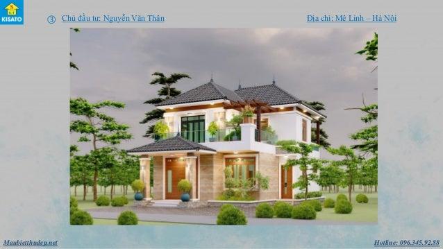 Hotline: 096.345.92.88Maubietthudep.net  Chủ đầu tư: Nguyễn Văn Thân Địa chỉ: Mê Linh – Hà Nội