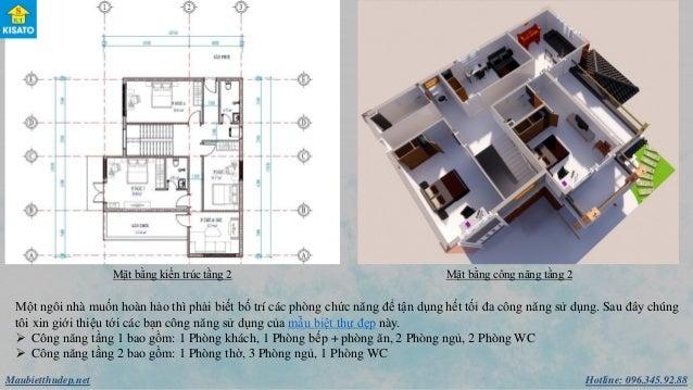 Hotline: 096.345.92.88Maubietthudep.net Mặt bằng kiến trúc tầng 2 Mặt bằng công năng tầng 2 Một ngôi nhà muốn hoàn hảo thì...
