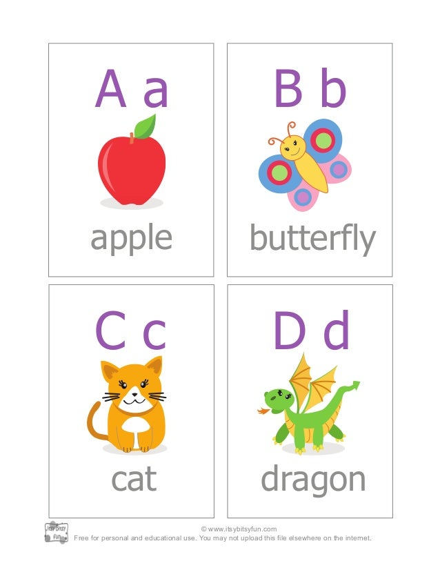 Abc Alphabet Flash Cards