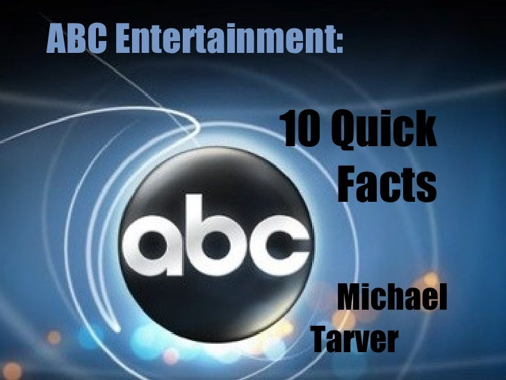 ABC Entertainment: 10 Quick Facts Michael Tarver