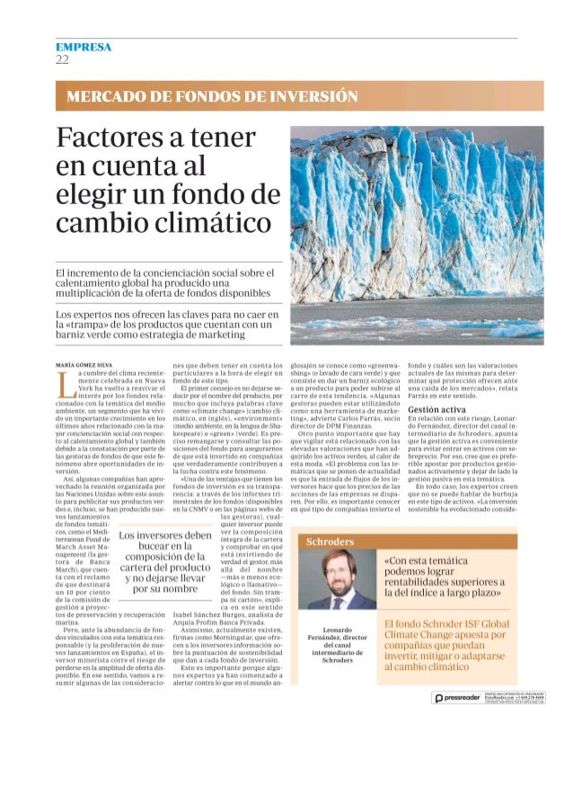 Factores a tener en cuenta al elegir un fondo de cambio climatico