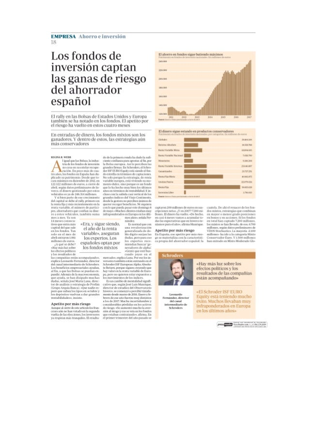 Los fondos de inversión captan las ganas de riesgo del ahorrador español