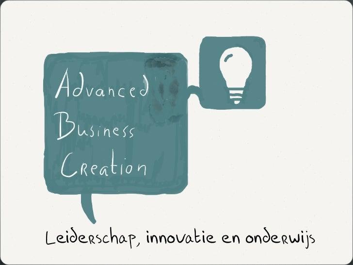 Leiderschap, innovatie en onderwijs