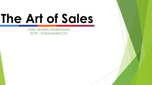 The Art of Sales Hany Sewilam AbdelHamid 2018 – Dubai Media City
