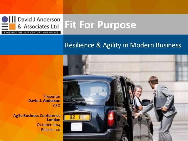 dja@djaa.com @djaa_dja Copyright David J. Anderson & Associates (UK) Ltd. Presenter David J. Anderson CEO Agile Business C...