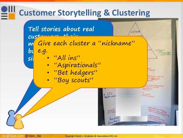 dja@djaa.com @djaa_dja Copyright David J. Anderson & Associates (UK) Ltd. Customer Storytelling & Clustering Tell stories ...
