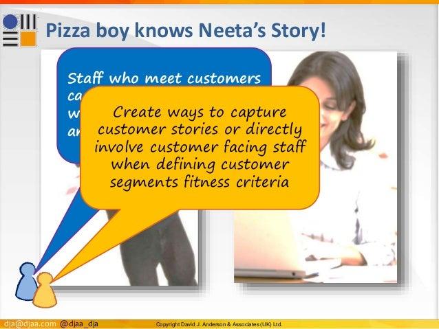 dja@djaa.com @djaa_dja Copyright David J. Anderson & Associates (UK) Ltd. Pizza boy knows Neeta's Story! Staff who meet cu...