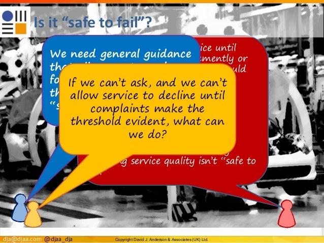 dja@djaa.com @djaa_dja Copyright David J. Anderson & Associates (UK) Ltd. Retarding customer service until customers compl...