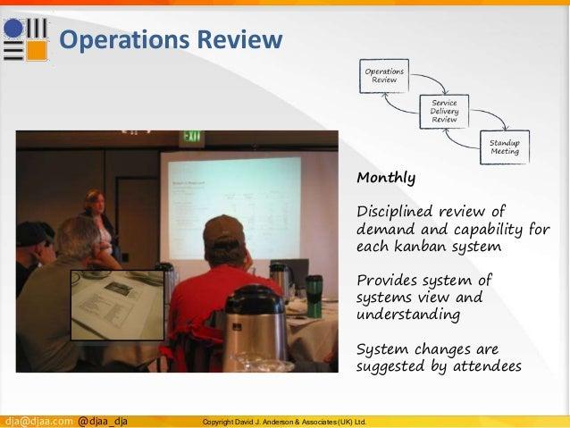 dja@djaa.com @djaa_dja Copyright David J. Anderson & Associates (UK) Ltd. Operations Review Monthly Disciplined review of ...