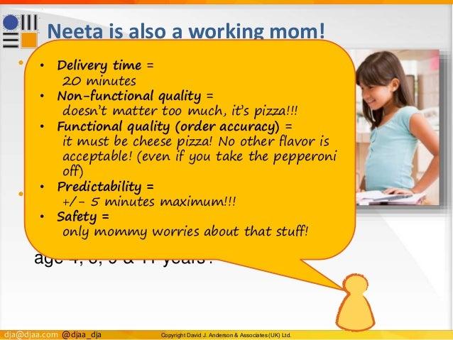 dja@djaa.com @djaa_dja Copyright David J. Anderson & Associates (UK) Ltd. Neeta is also a working mom! • Neeta gets home l...