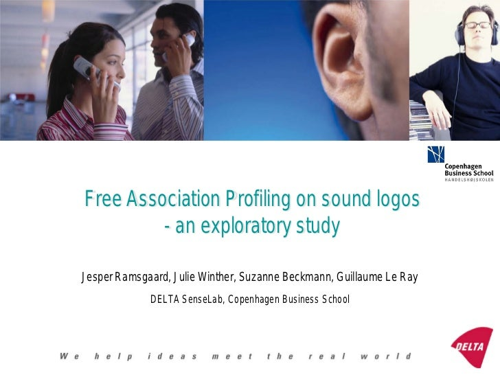 Free Association Profiling on sound logos         - an exploratory studyJesper Ramsgaard, Julie Winther, Suzanne Beckmann,...
