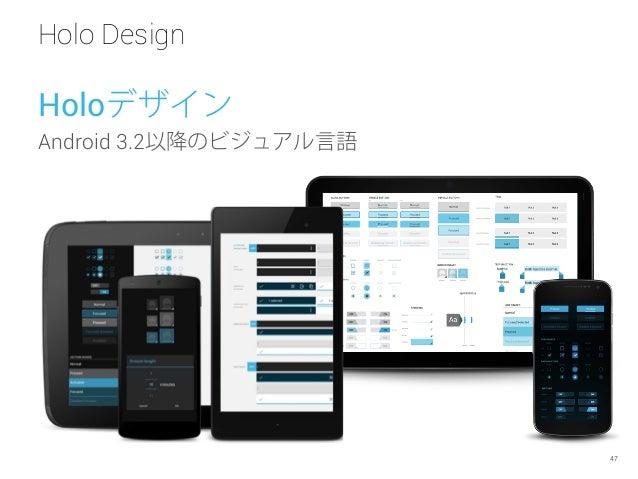 Holo Design 47 Holoデザイン Android 3.2以降のビジュアル言語