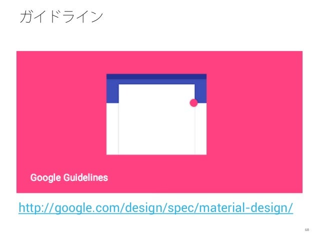 ガイドライン 68 http://google.com/design/spec/material-design/