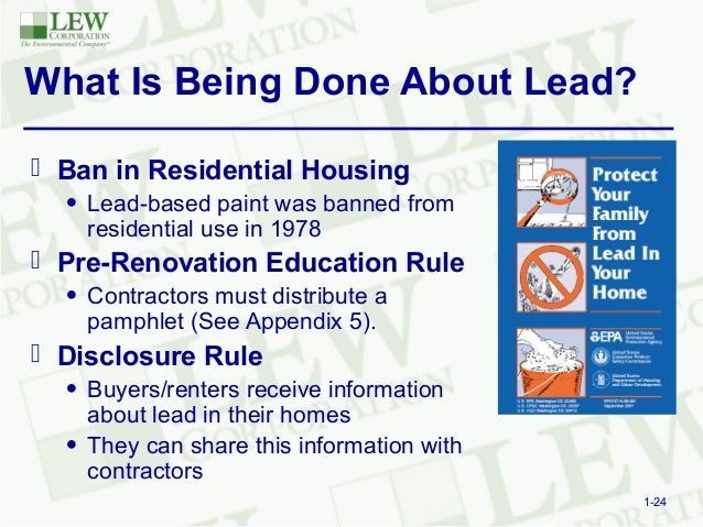 Three simple steps for full comliance of epa 39 s lead based for When was lead paint banned