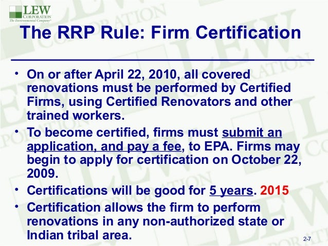 Three Simple Steps for Full Comliance of EPA\'s Lead Based Paint RRP R…