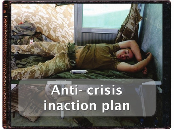 Anti- crisis inaction plan