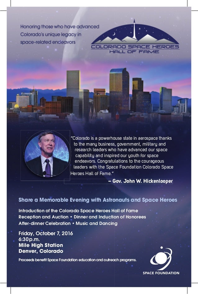 """""""Colorado is a powerhouse state in aerospace thanks to the many business, government, military and research leaders who ha..."""