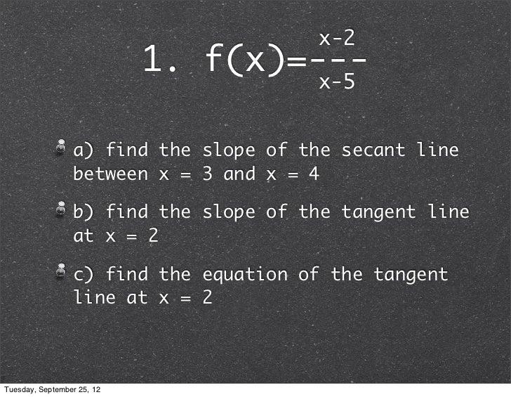 slope of secant line formula