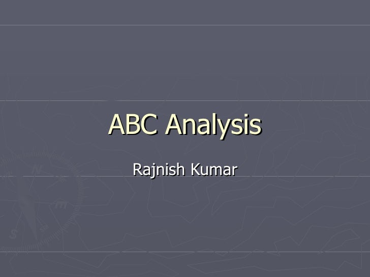 ABC Analysis Rajnish Kumar