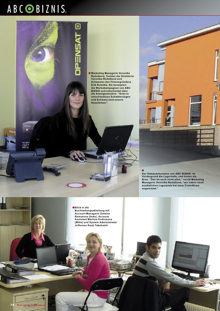 ■ Marketing Managerin Veronika                                                                 Rešetková, Tochter der Dire...
