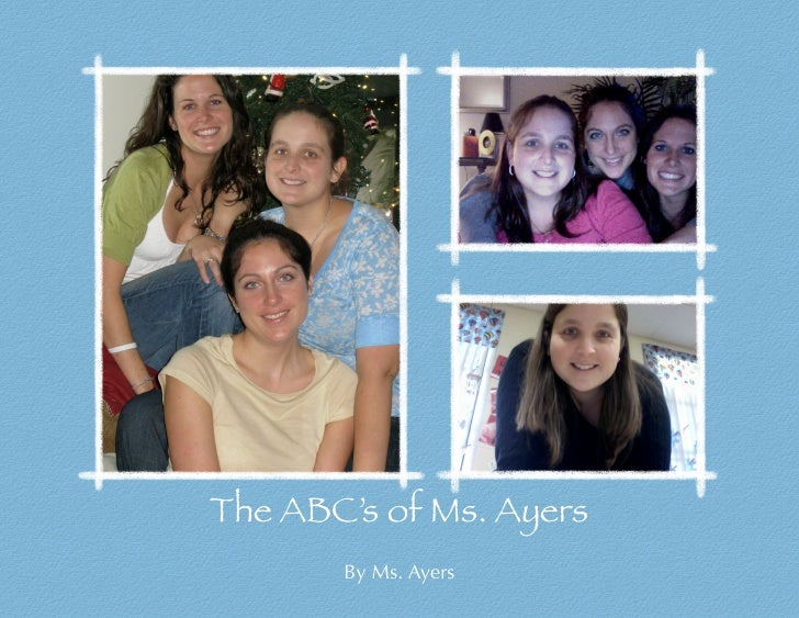 The ABC's of Ms. Ayers        By Ms. Ayers