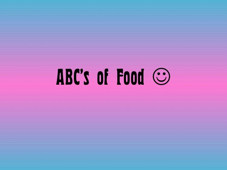 ABC's of Food  
