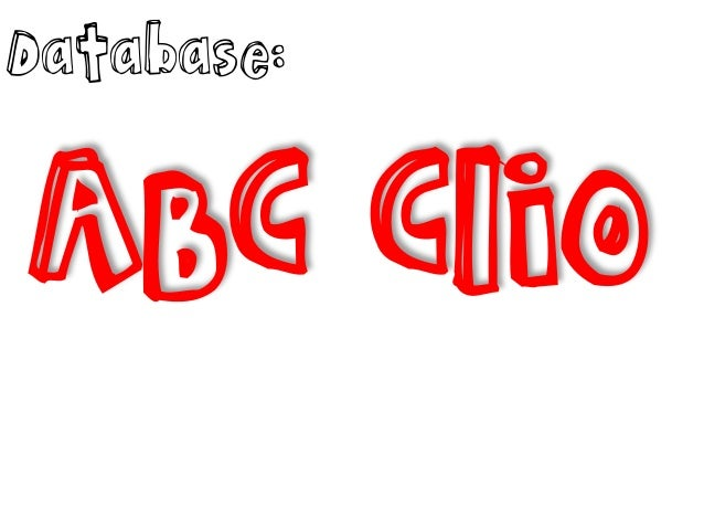 Database:  ABC Clio