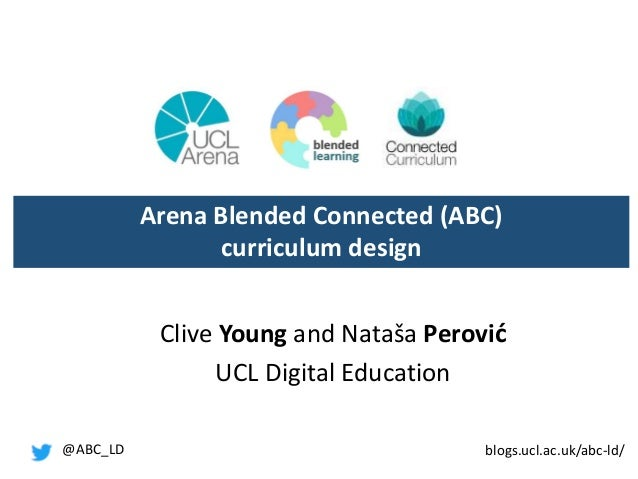 Clive Young and Nataša Perović UCL Digital Education Arena Blended Connected (ABC) curriculum design @ABC_LD blogs.ucl.ac....