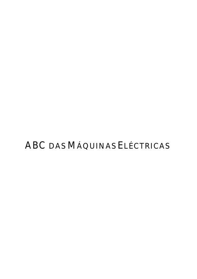 ABC DAS MÁQUINAS ELÉCTRICAS