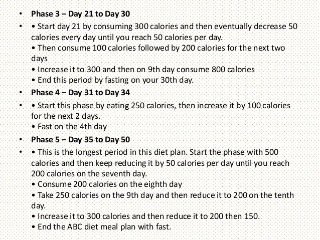 Abc diet for weight loss