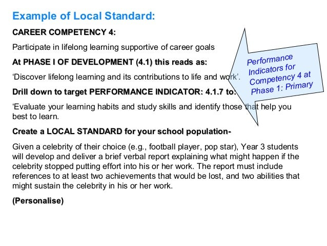 The australian blueprint for career development 20 example of local standardcareer competency malvernweather