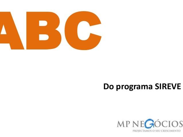 Do programa SIREVE ABC