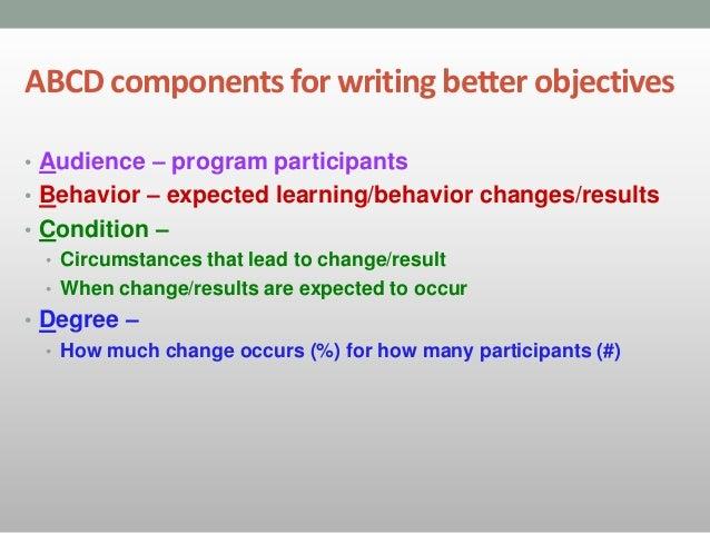 Karsu writing abcd objectives