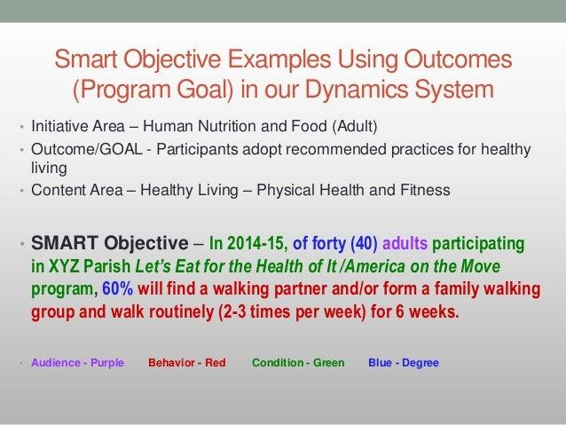 long term behavior diet goals examples