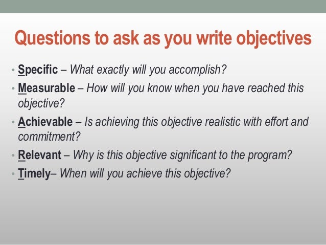 how to write abcd objective