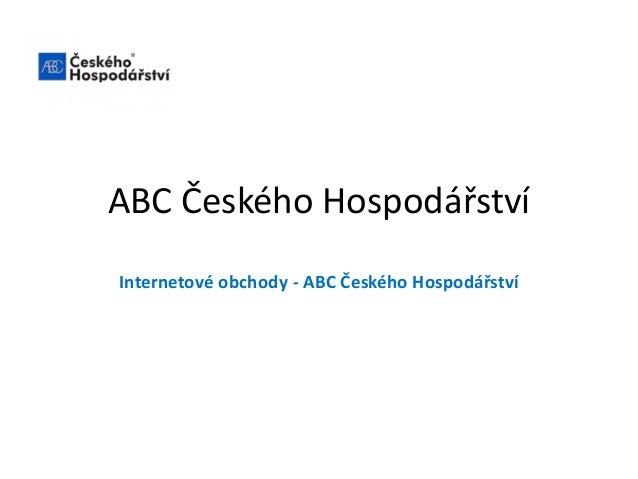 ABC Českého Hospodářství Internetové obchody - ABC Českého Hospodářství