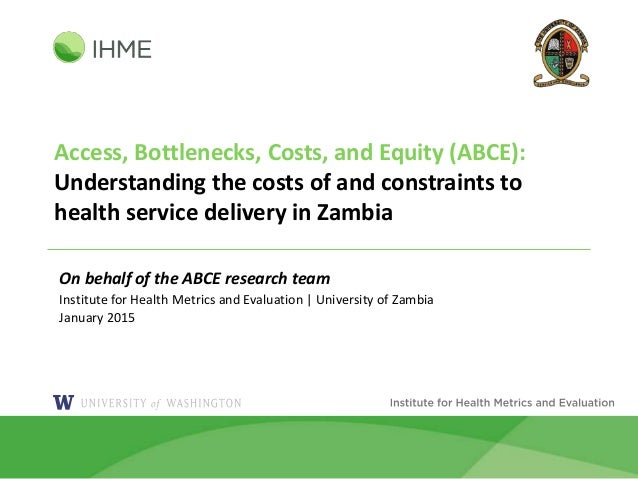 Access, Bottlenecks, Costs, and Equity (ABCE): Understanding the costs of and constraints to health service delivery in Za...