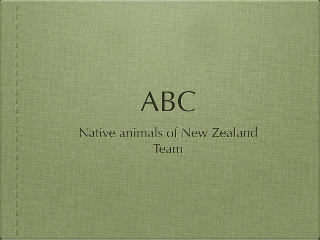 ABC of Native Plants and Birds of New Zealand Team 6