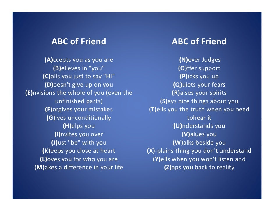 ABC of Friend          ABC f F i d                              ABC of Friend                                             ...
