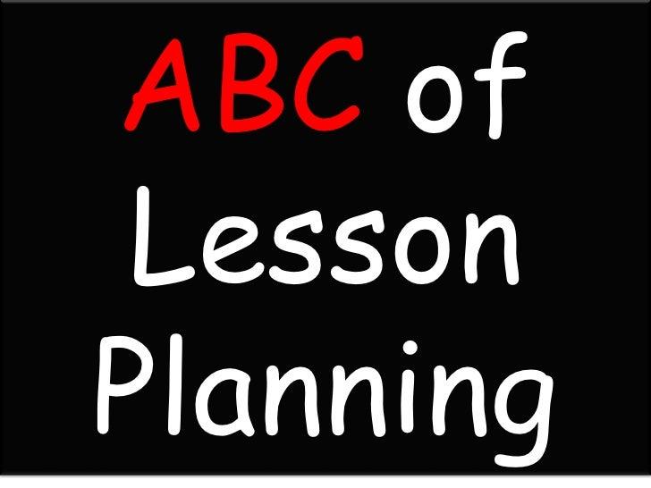 ABC of LessonPlanning