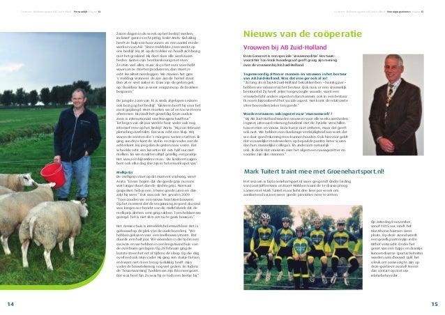 Nieuws van de coöperatie Vrouwen bij AB Zuid-Holland Deze Concreet is een speciale 'vrouweneditie'. Bestuurs- voorzitter T...