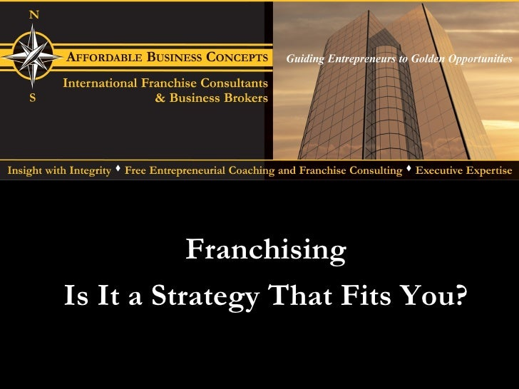 Franchising Is It a Strategy That Fits You?
