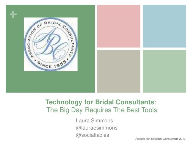 association of bridal consultants tech tips for wedding
