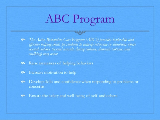 an analysis of abc programs At analytical behavioral consultants (abc), we are passionate about serving children, families and professionals in the implementation of research-proven support systems for children who struggle with learning, language and behavior.
