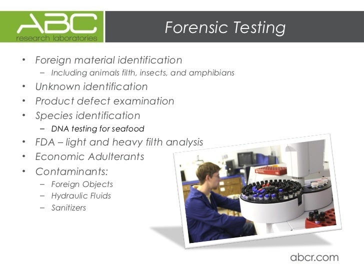 Food Safety Testing Abc Research Laboratories Capabilities