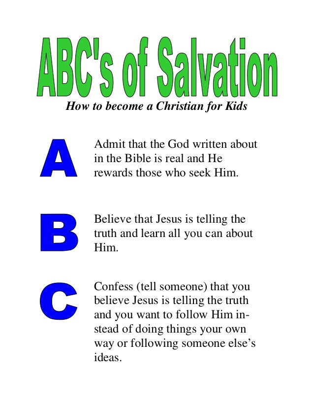 Unusual image in abc's of salvation printable