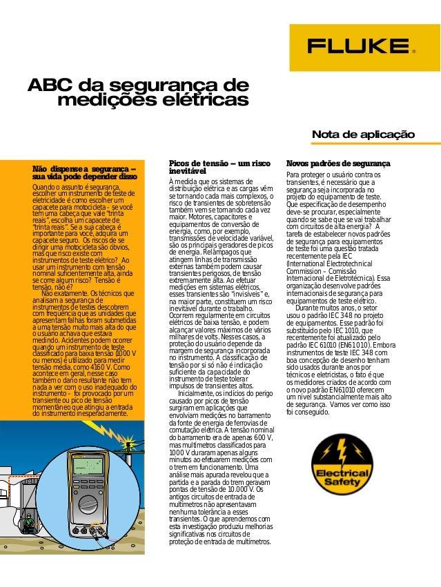 ABC da segurança de medições elétricas Fluke Corporation 1  ABC da segurança de  medições elétricas  Picos de tensão – um ...