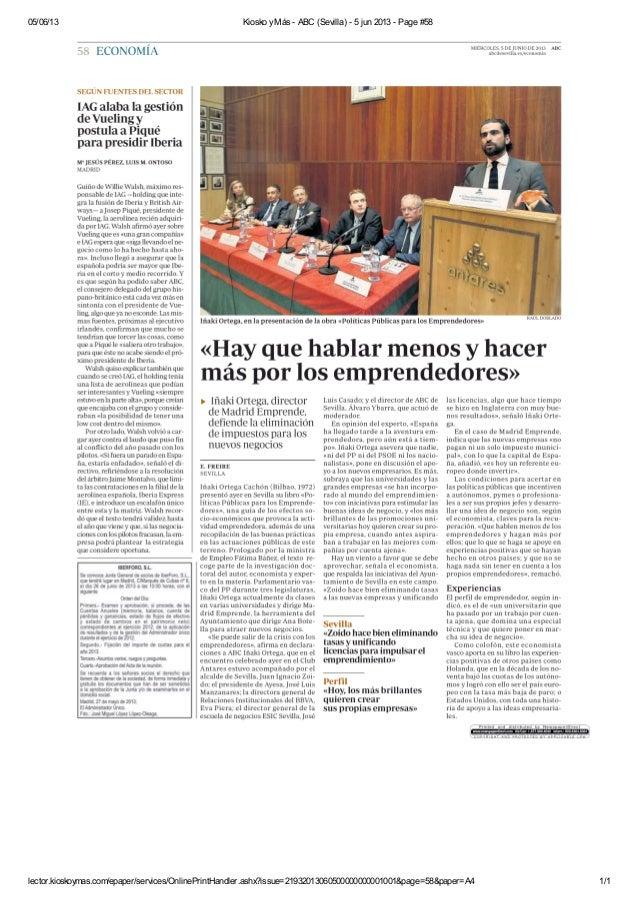 05/06/13 Kiosko yMás - ABC (Sevilla) - 5 jun 2013 - Page #58lector.kioskoymas.com/epaper/services/OnlinePrintHandler.ashx?...
