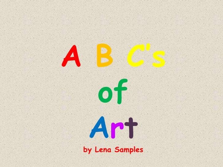 ABC'sofArtby Lena Samples<br />