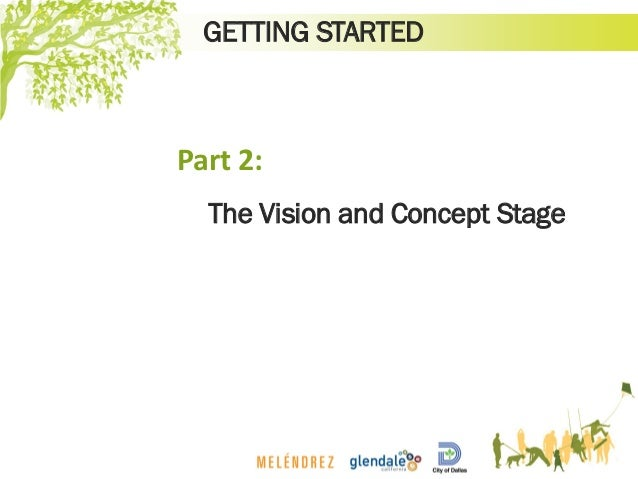 GETTING STARTED The Vision and Concept Stage Part 2: